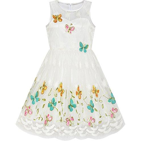 Sunboree Mädchen Kleid Schmetterling Ostern Illusion Joch Kleiden Gr. 116