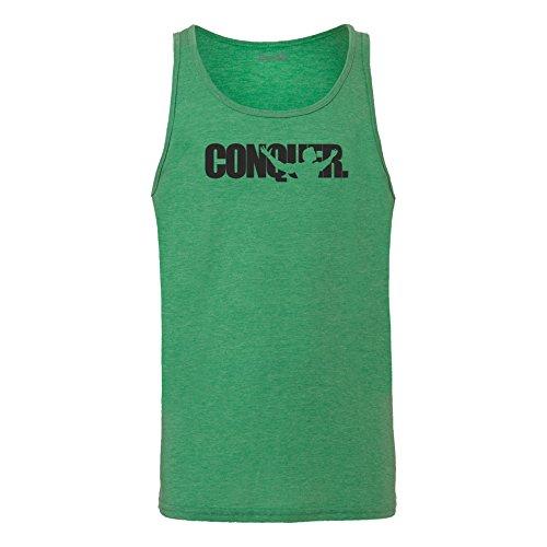 Brand88 - Conquer, Unisex Jersey Weste Gruen Meliert