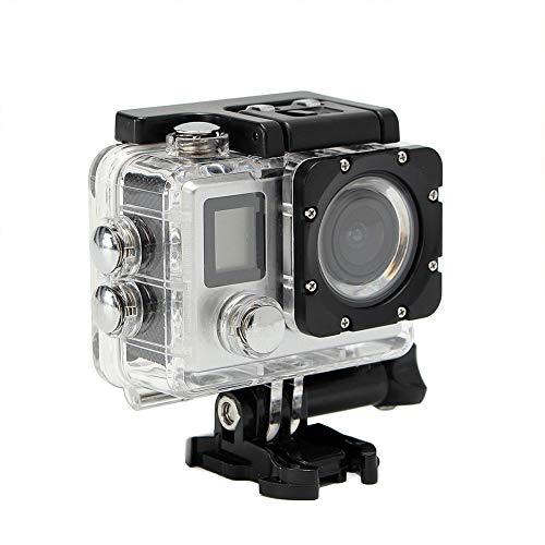 ZAK168 4 K WiFi Action Kamera Ultra HD Unterwasser Wasserdicht DV Camcorder 16 MP 170 Grad Weitwinkel Sport Cam mit Fernbedienung Dual LCD Bildschirme und Montagezubehör Kit, Schwarz, Free Size