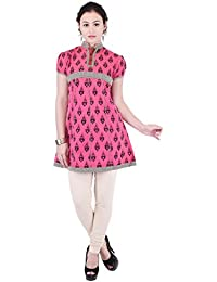 Beautiful Cotton Printed PINK Short Kurti From The House Of Aprique Fab
