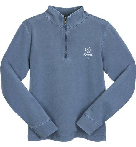 Life is Good Jungen 'Heavy Rib Half Zip Sweatshirt (Shadow), Jungen, shadow (Shadow Half Pullover Zip)