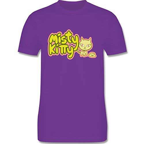 Katzen - Misty Kitty - Herren Premium T-Shirt Lila