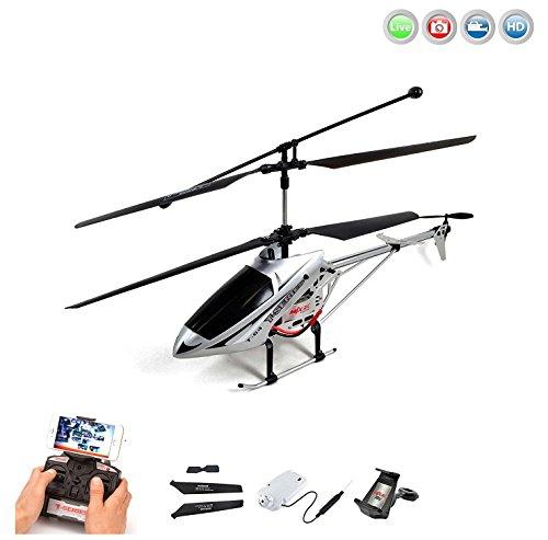 3.5 Kanal 2.4GHz RC ferngesteuerter Hubschrauber mit HD-Kamera Wifi FPV Live Übertragung, Crash-Kit RTF