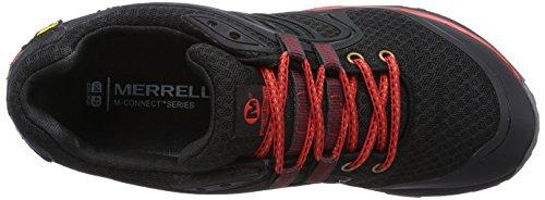 Merrell Verterra Sport Gore Tex, Chaussures de Randonnée Basses Homme Noir (black/red)