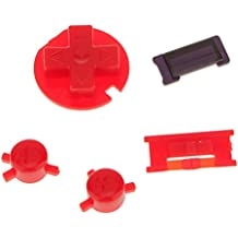 MagiDeal A B Buttons D-pad Blue Colour Buttons for Nintendo Game Boy Color GBC Repair Parts Red