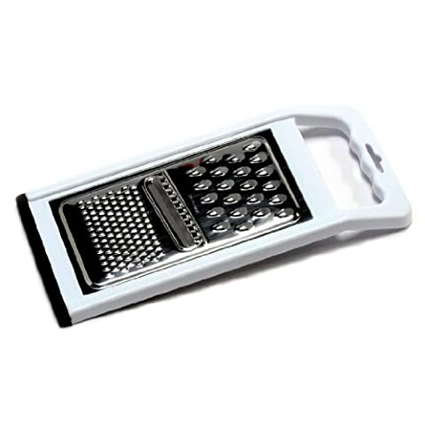 Chef Craft 21005 1-Piece Stainless Steel No Skid Bottom Flat Grater, White and Stainless Steel, 11-Inch by Chef Craft