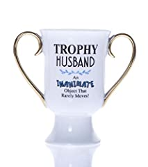 Idea Regalo - Boxer Gifts Trophy Mug Tazza con Trofeo Marito, Ceramica