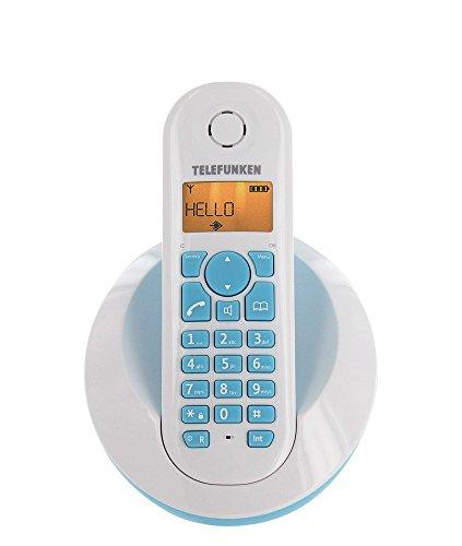 Telefunken PEPS TB201 - Teléfono fijo inalambrico, blanco