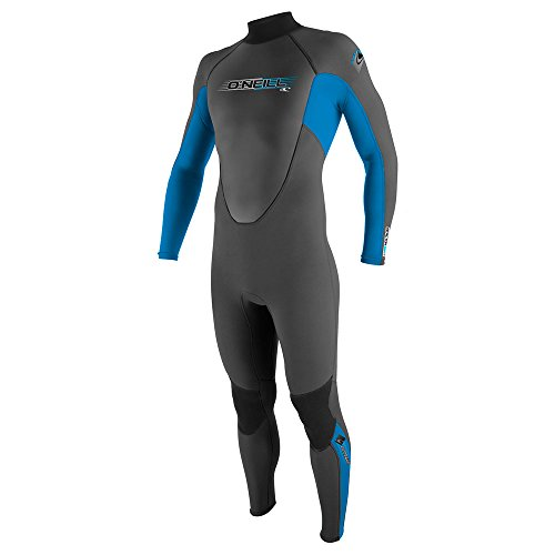 2017 O'Neill Youth Reactor 3/2mm Back Zip Flatlock Wetsuit GRAPHITE / BLUE 3802 Age / Size - 14 Years