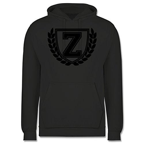Anfangsbuchstaben - Z Collegestyle - Männer Premium Kapuzenpullover / Hoodie Dunkelgrau