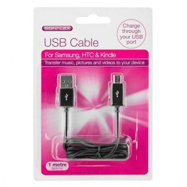 1 Meter(approx) MICRO USB DATA or CHARGER CABLE FOR BLACKBERRY SAMSUNG NOKIA HTC SONY ERICSSON Mobile Phone Tablet Camera - Exclusive to Amatola-Kei