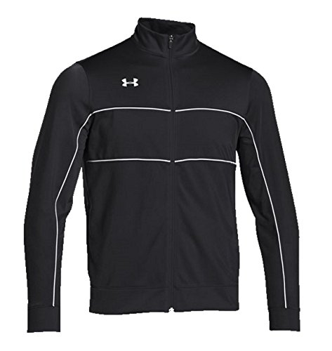 Knit Warm Up Jacket (Under Armour Men's Rival Knit Warm-Up Jacket (Large, Black/White))