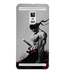 For Vivo X3S man with sword ( man with sword, sword, man, grey background ) Printed Designer Back Case Cover By TAKKLOO