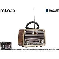 Mikado MDR-6BT Multimedya Ses Sistemler, Ahşap/Kahve