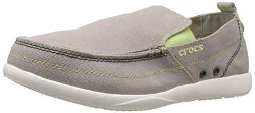 Crocs Walu, Espadrilles homme Gris (Light Grey/White)