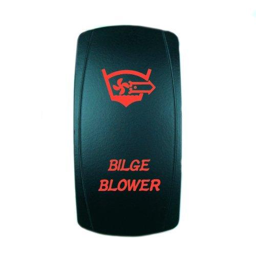 STVMotorsports Laser Red Rocker Switch Bilge/Gebläse 20A 12V EIN/Aus-LED-Licht -