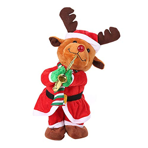 Coupon Matrix - Christmas Decorations Sale Clearance, Christmas Electric Dancing Singing Reindeer Animated Plush CM© toy Stuffed Animals (A)