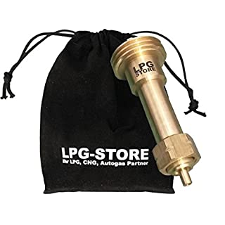 LPG-Store LPG GPL Autogas Tankadapter Acme Gasflaschen Propangas lang Adapter mit Stoffbeutel by