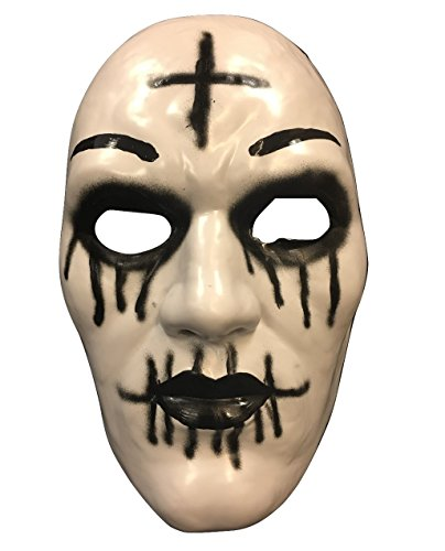 The Purge 'Cross' Maske von Säuberung Anarchie 2 Halloween Film - Hart Plastik - universell (Purge 2 Masken)