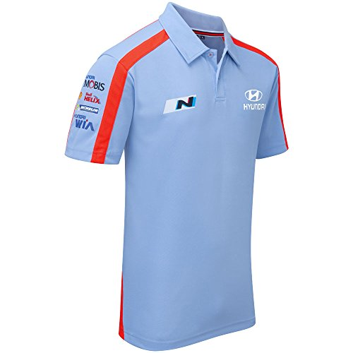 Hyundai Motorsport Team Polo-Shirt Herren Blau Top WRC Motorsport XXXL Blues