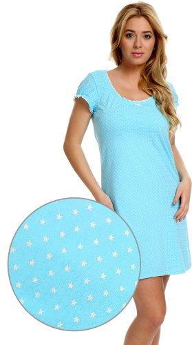 Italian Fashion IF Damen Stillnachthemd Telimena 0114/1 Blau
