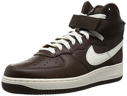 Nike Air Force 1 Hi Retro QS Scarpe da Pallamano, Nero/Bianco, (Brown/White (Choc/Sail)), 39 EU
