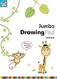 Bloc de dessin Jumbo pour enfants Anker, plastique, couleurs assorties, 45 pages