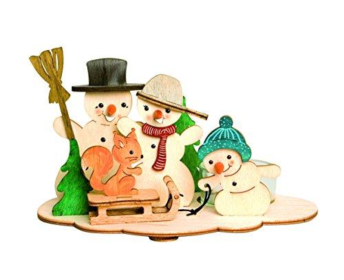 lset Teelichthalter Schneemann  aus Holz zum Zusammenbauen ()
