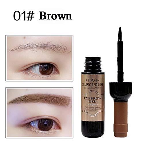 KHKJ 1 Pcs Eyebrow Gel Black Coffee Gray Peel Off