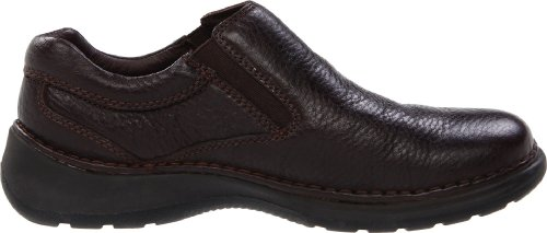 Hush Puppies Men's Lunar II Slip-On,Dark Brown,7 M US Dark Brown