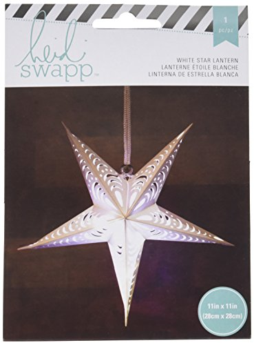 American Crafts Heidi Swapp 5 Star Lanterne en papier 28 cm Blanc, acrylique, multicolore