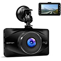 """APEMAN In Car Dash Cam 1080P FHD Camera Metal DVR Digital Driving Video Recorder for Cars 3"""" LCD Screen 170°Wide Angle 6G Lens with WDR Loop Recording G-sensor Parking Monitor and Motion Detection"""