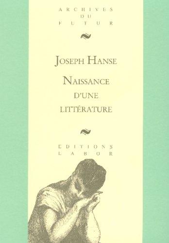 Naissance d'une littérature