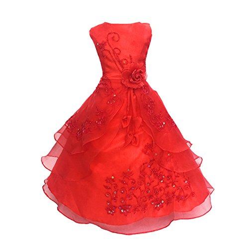 LSERVER-Mädchen Prinzessin Kleid Blumenmädchen Kleid Kinder Hochzeit Kleid