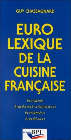 Eurolexique de la cuisine francaise