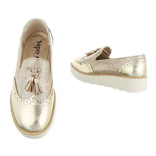 Ital-Design , chaussons d'intérieur femme Or