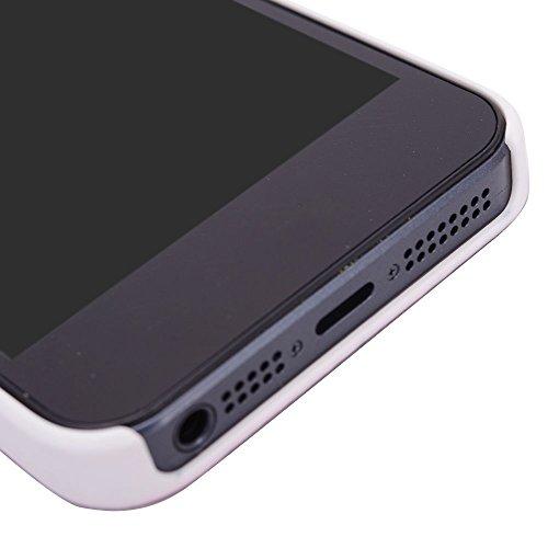 Kroo PC Rigide Shell Housse Coque Étui pour Apple iPhone 5/5S Multicolore - noir Multicolore - bleu