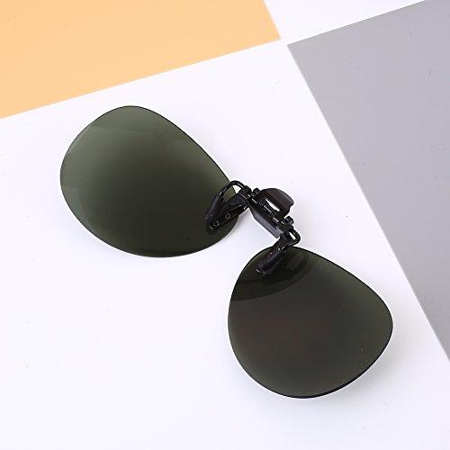 Sedeta Atroviren Fanshion Sonnenbrille Linse Unisex Brillenclip Geschützte polarisierte Linsen für Mann Frau
