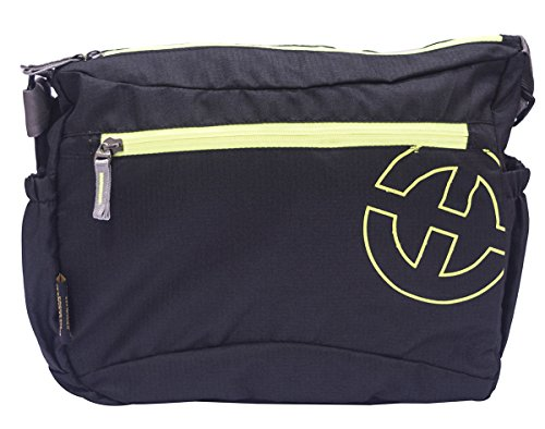College Messenger Bag - Tanworld Crinoid Casual Shoulder Bag for Boys & Girls - Stylish Crossbody Satchel (TWMB01-Black)  available at amazon for Rs.299