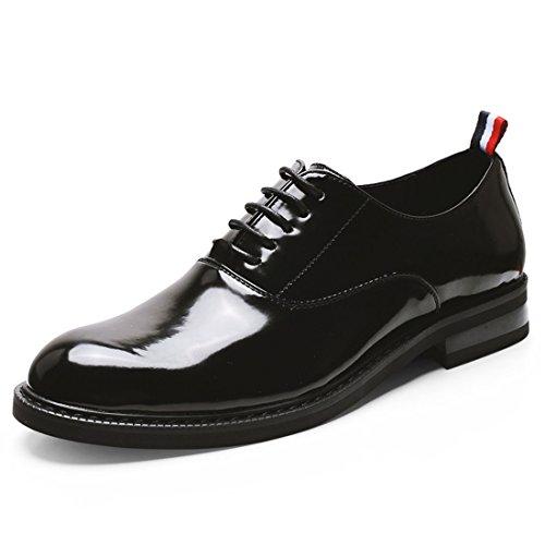 HENGJIA Herren Freizeitliche Arbeitsschuhe Klassischer Schnürhalbschuh Oxford-Schuh 3619 Schwarz