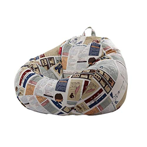 Erwachsene Hohe Rückseitige Beanbag-Recliner Gaming Bean Bag Kinder Bean Bags Outdoor Bodenkissen EPP Wohnzimmer Liege (Farbe : B, größe : L (90 * 110cm)) (L Sitzsack)