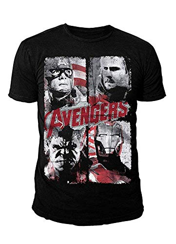 Marvel Comics - The Avengers Herren T-Shirt - Age of Ultron Hereos (Schwarz) (S-XL) ()
