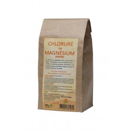 CHLORURE DE MAGNESIUM paquet de 500 grs.