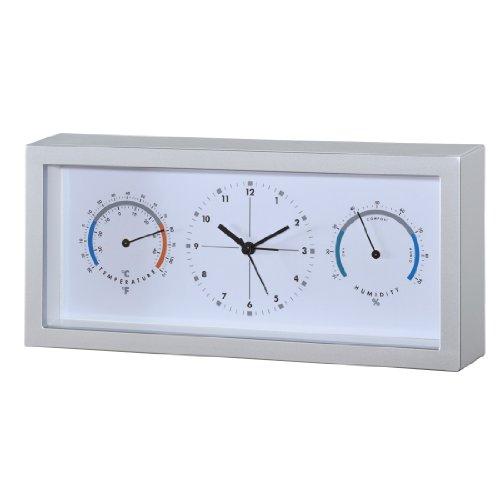 Hama Termometro/igrometro con orologio TH33, silver