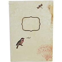 Susi Winter Design & Paper Edles Notizbuch aus hochwertigem Papier A5 Format mit liebevoll gestaltetem Vogel Motiv, liniert
