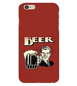 Fuson Designer Phone Back Case Cover Apple iPhone 6s Plus :: Apple iPhone 6s+ ( Man Holding A Beer Mug )