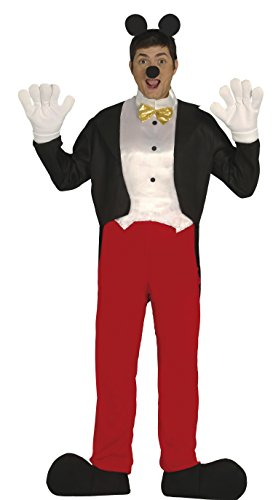 Comic Maus Held - Kostüm Herren Karneval Fasching Party Ohren Zeichentrick Gr. M - L, Größe:L