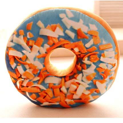 daweiwei Kreative Simulation Donuts Plüsch Hugging Kissen Kissen Svelet Donut Toy Short Plüsch Kissen Geburtstagsgeschenk Blue Prostitute Orange Peel 40 cm (Schokolade Orange Peel)