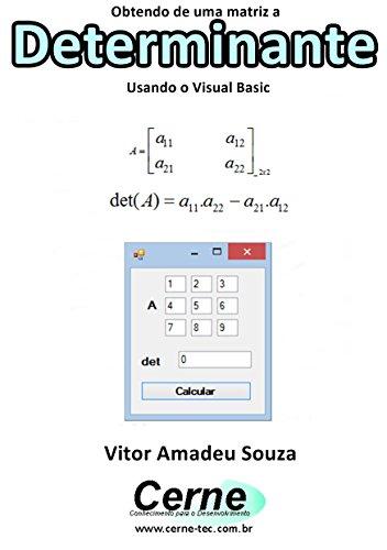 Obtendo de uma matriz a Determinante Usando o Visual Basic ...