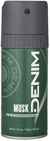 Denim Deodorant Body Spray For Men, Musk, 150 ml